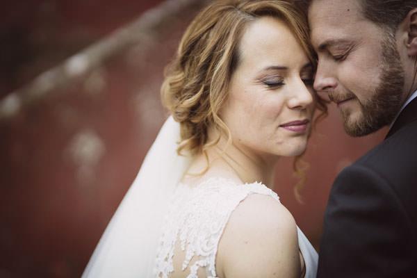 fotografo bodas asturias - Pareja de novios en el día de su boda